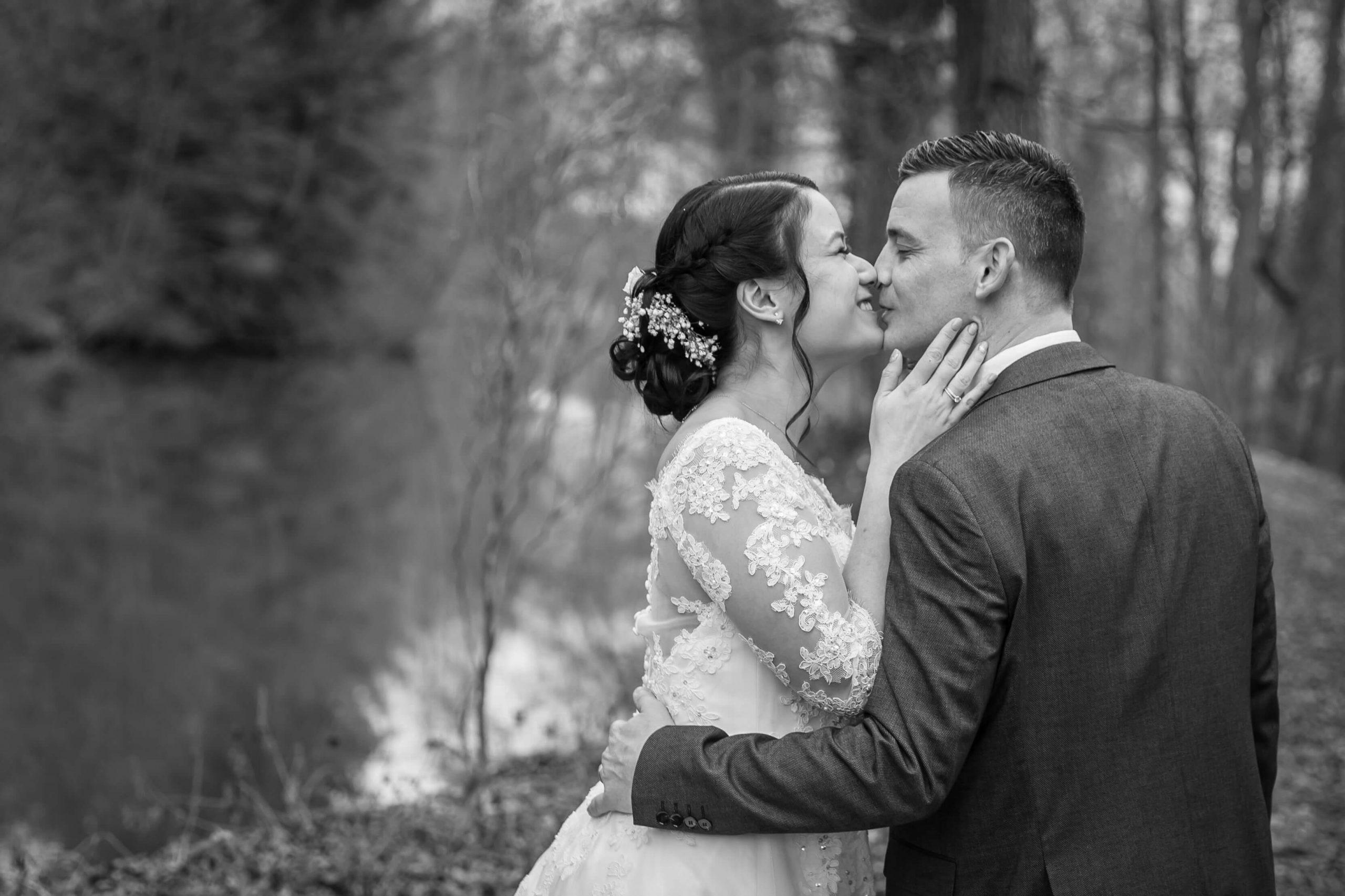 séance photo de mariage en hiver