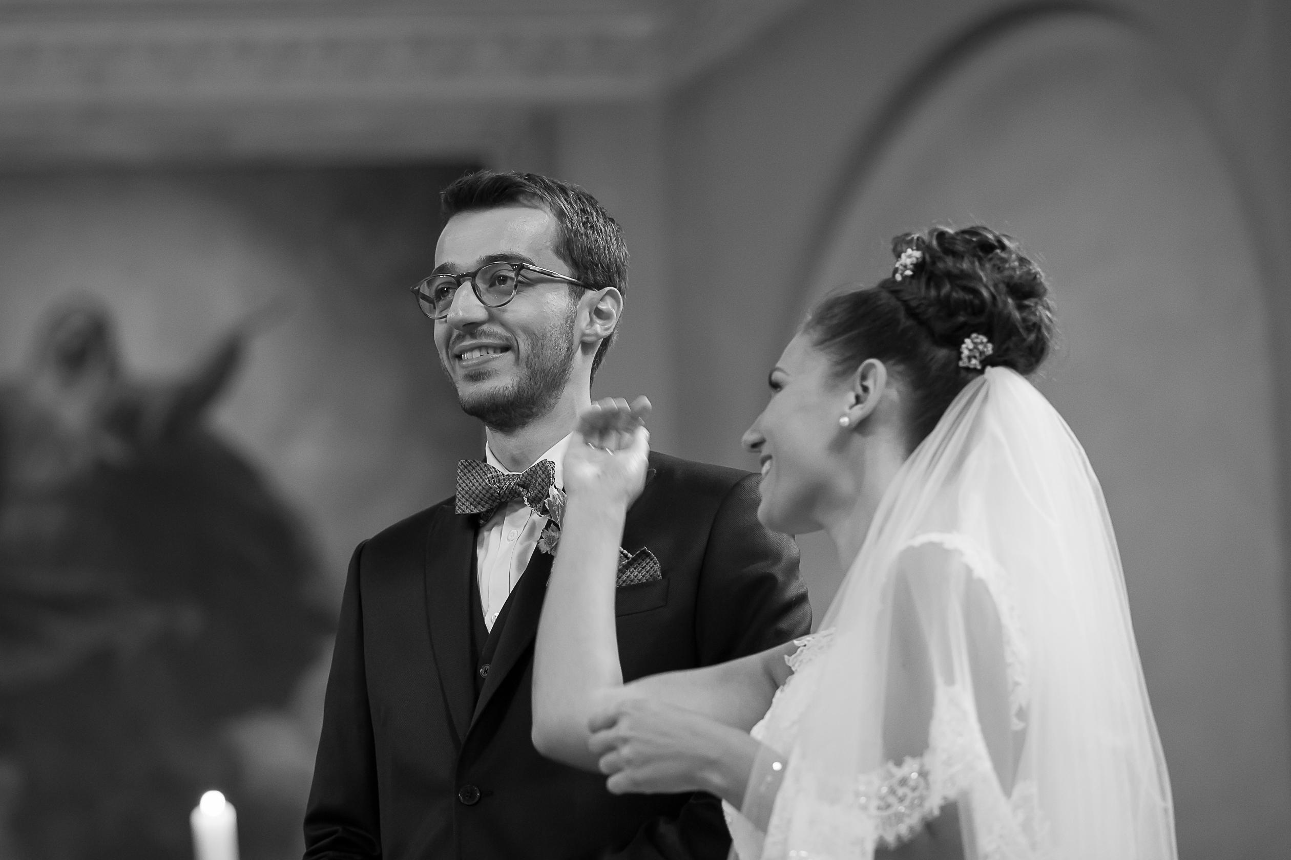 la cérémonie et son lot d'émotion, mariage dans l'église d'Altkirch