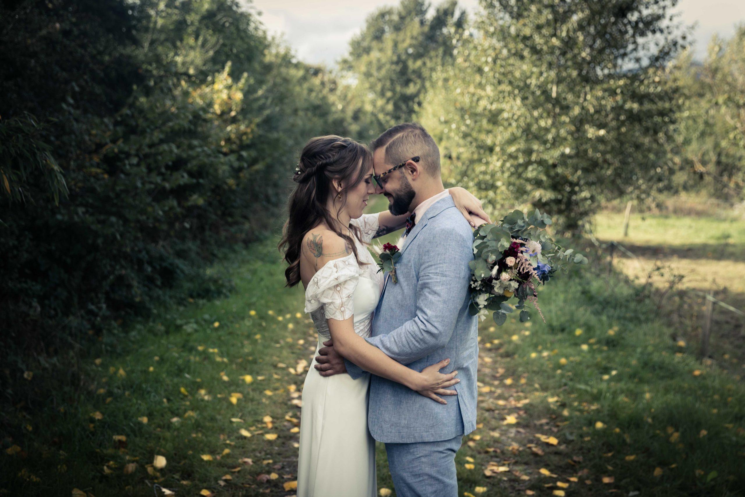 séance photo de la mariage au domaien Saint-Loup à Michelbach dan sle Haut-Rhin
