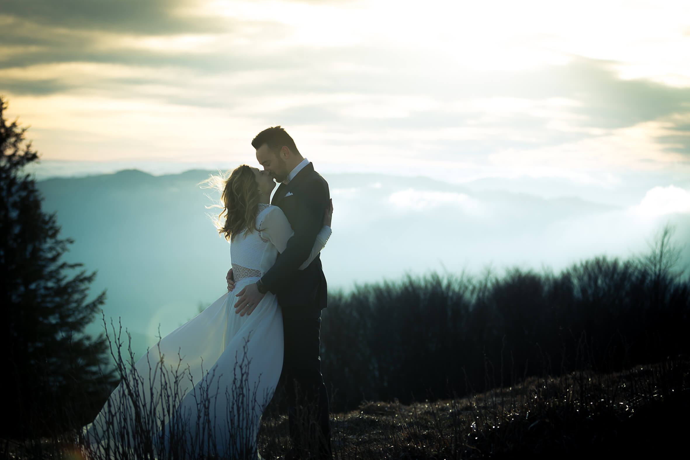 winter wedding shooting in France