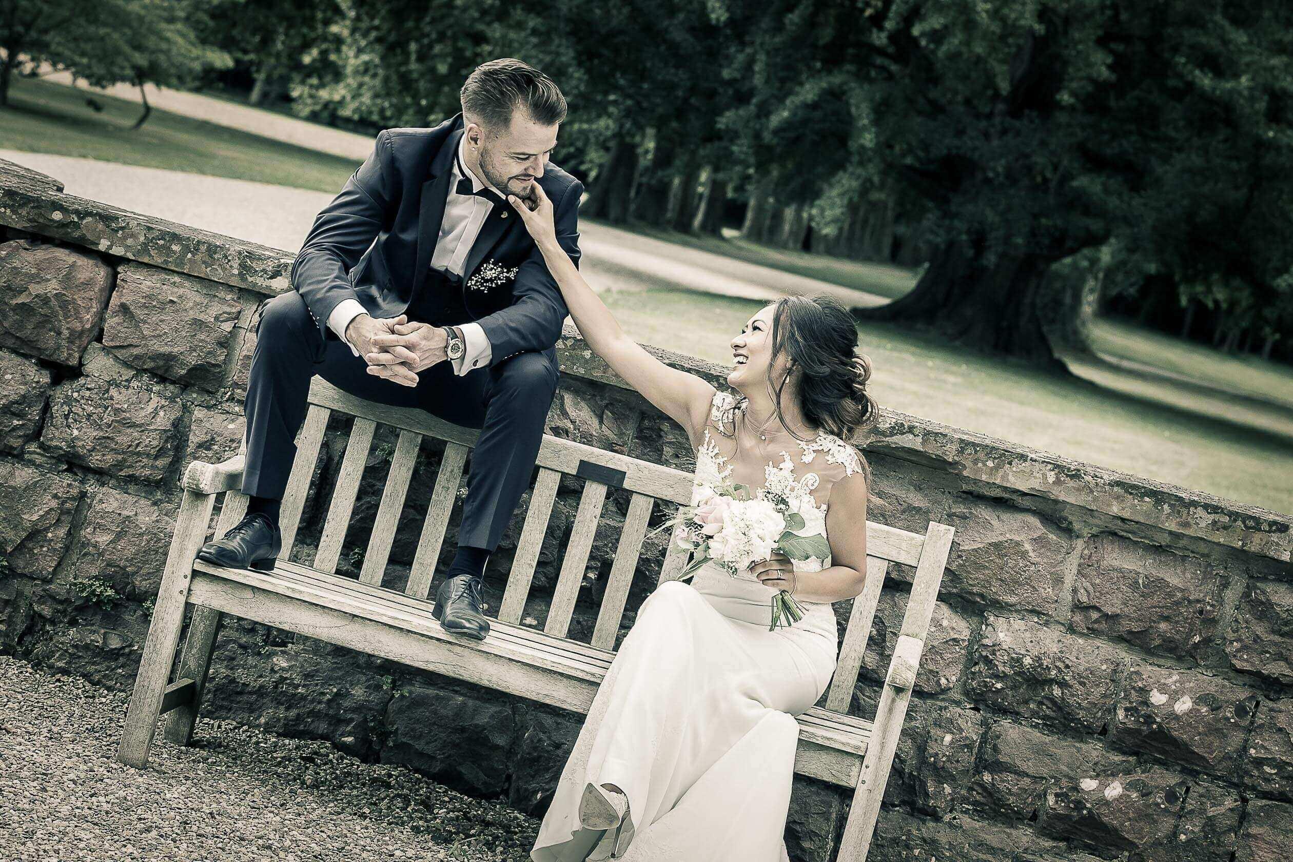 Séance photo de mariage au parc de shoppenwihr près de Colmar