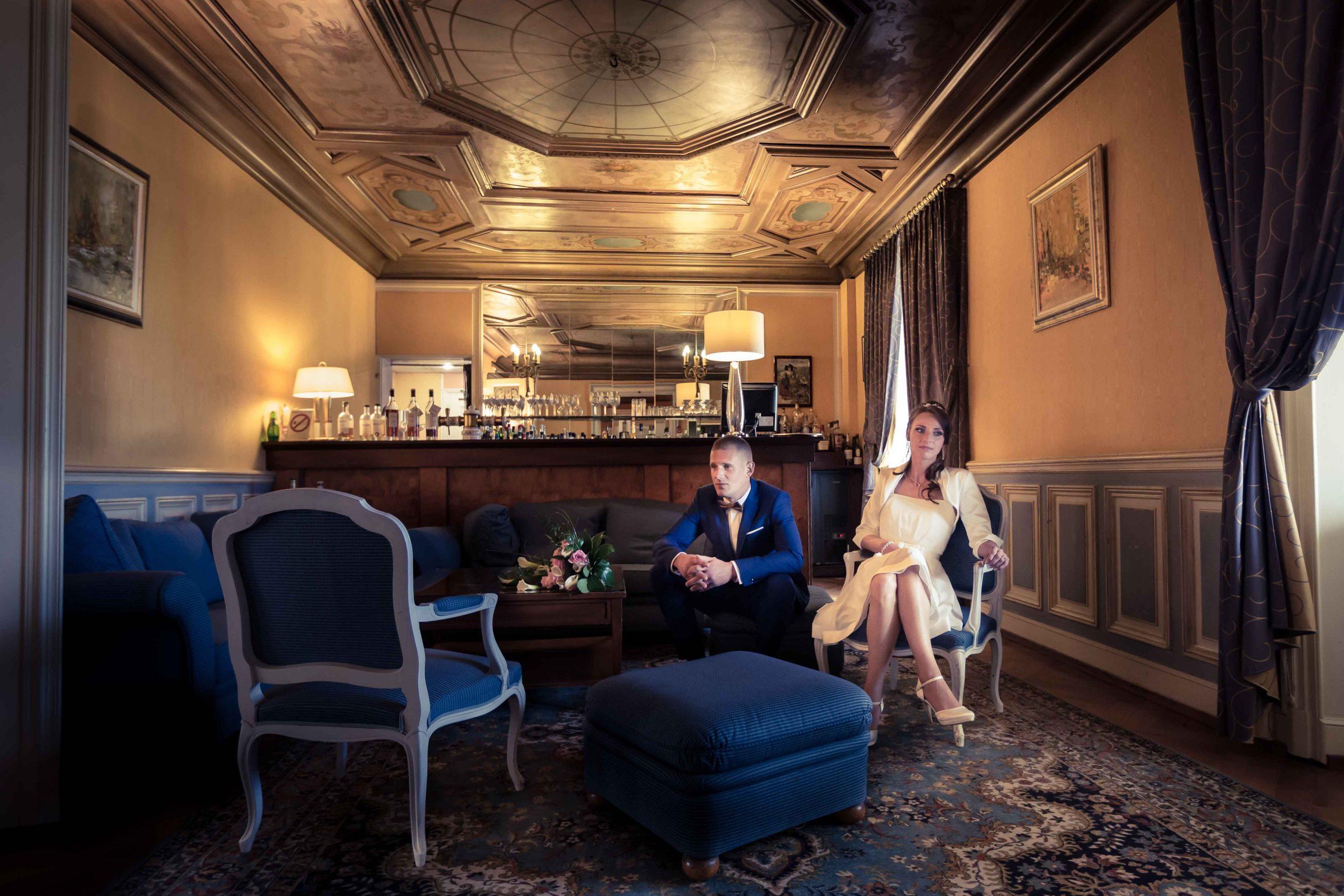 séance photo de mariage au chateau d'Issenbourg de Rouffach en Alsace