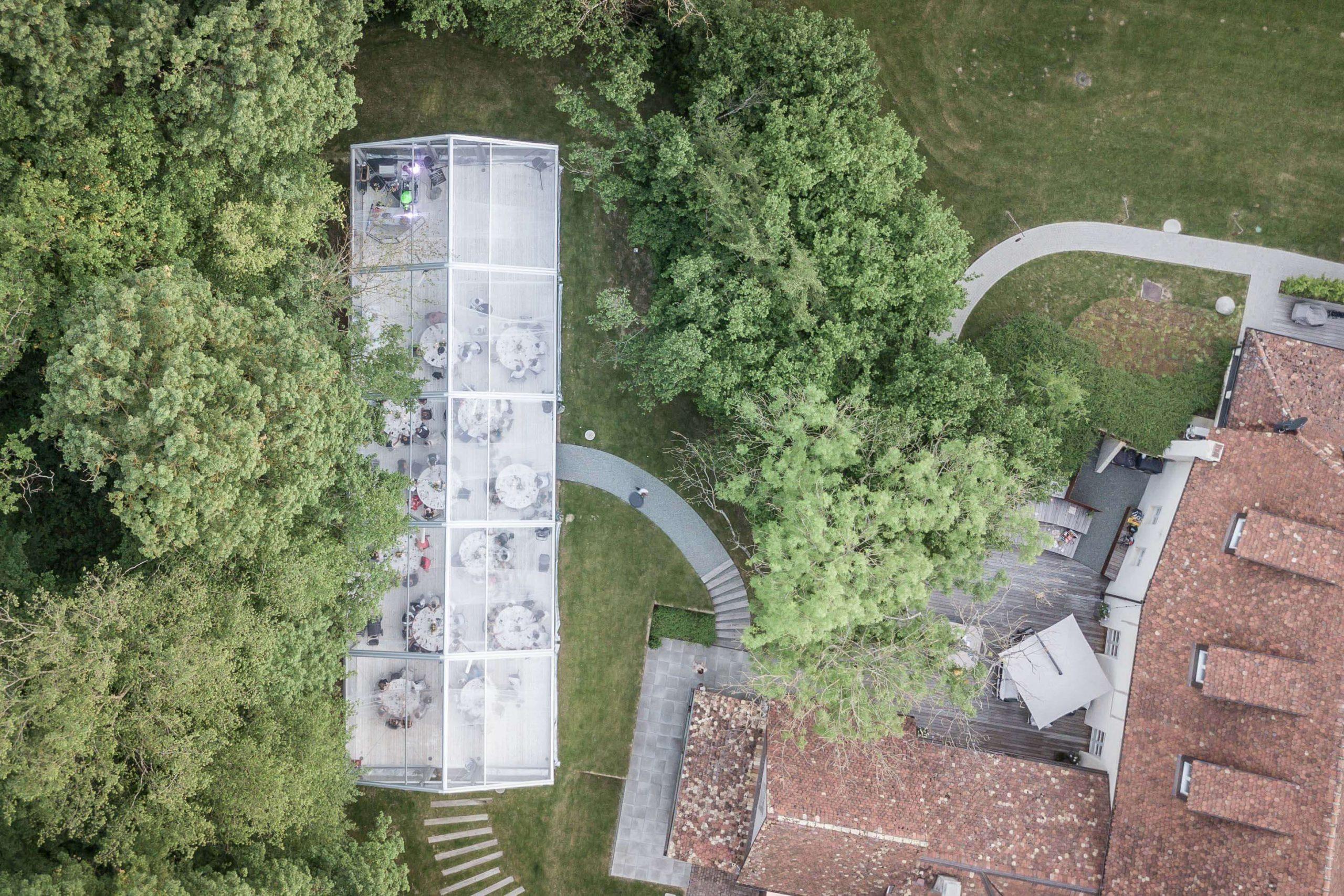 Domaine du Kaegy vue drone Steinbrunn ALSACE