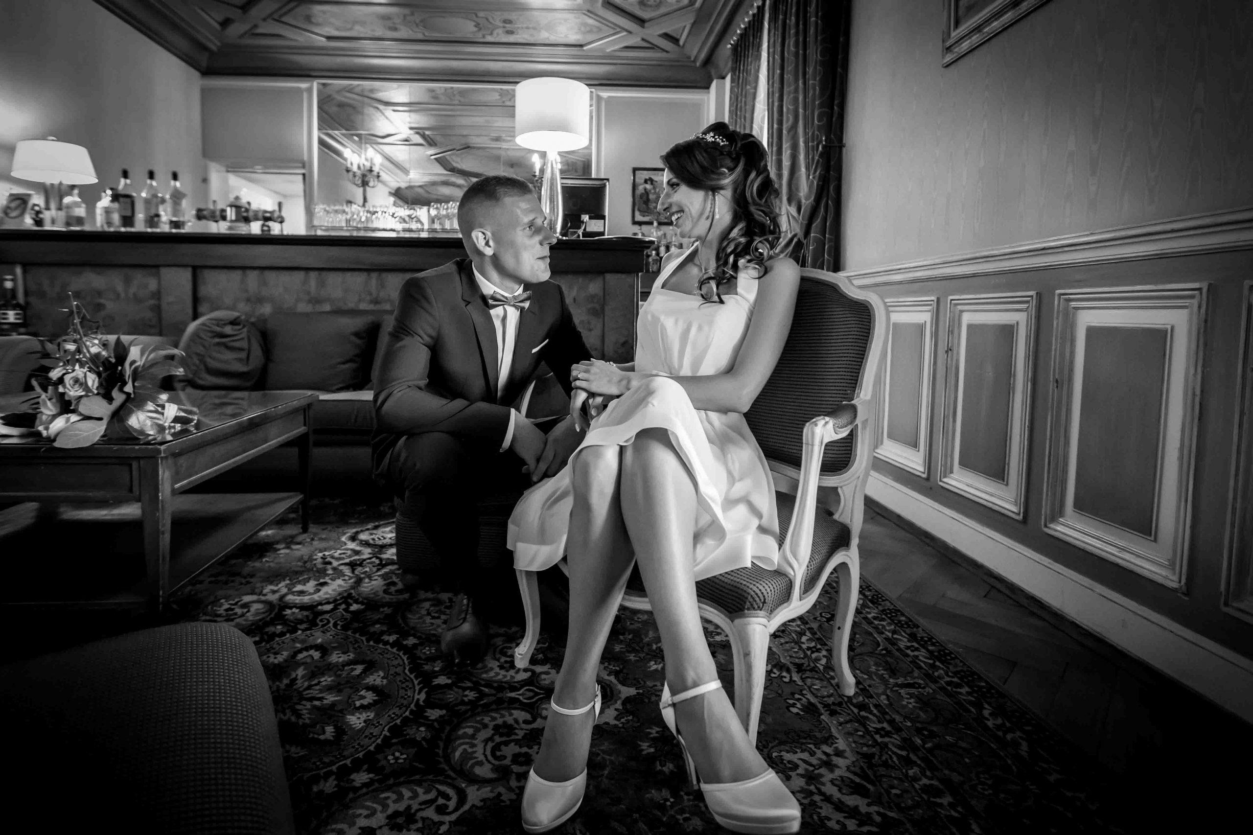 séance photo des mariés au chateau d'Issenbourg à Rouffach